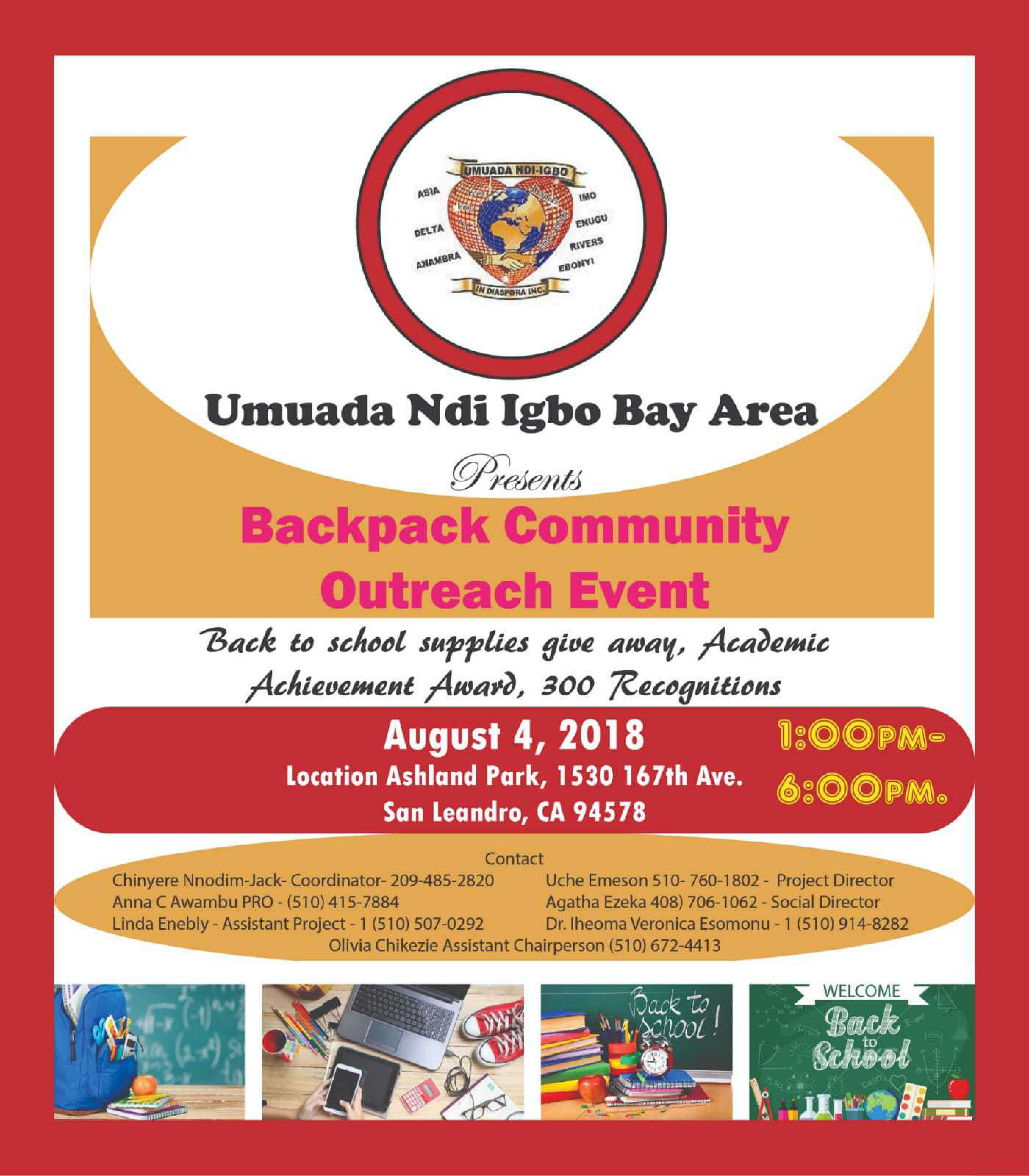 Backpack Community Outreach Event